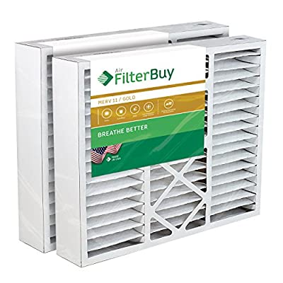 FilterBuy 24x25x5 Carrier Replacement AC Furnace Air Filters - AFB Gold MERV 11 - Pack of 2 Filters. Designed to fit FILXXCAR0024, FILCCCAR0024, & FILBBCAR0024.