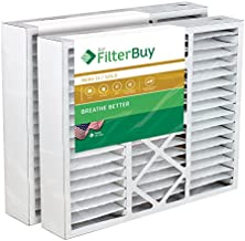 FilterBuy 24x25x5 Air Filter MERV 11, Pleated Replacement HVAC AC Furnace Filters for Carrier (2-Pack, Gold)