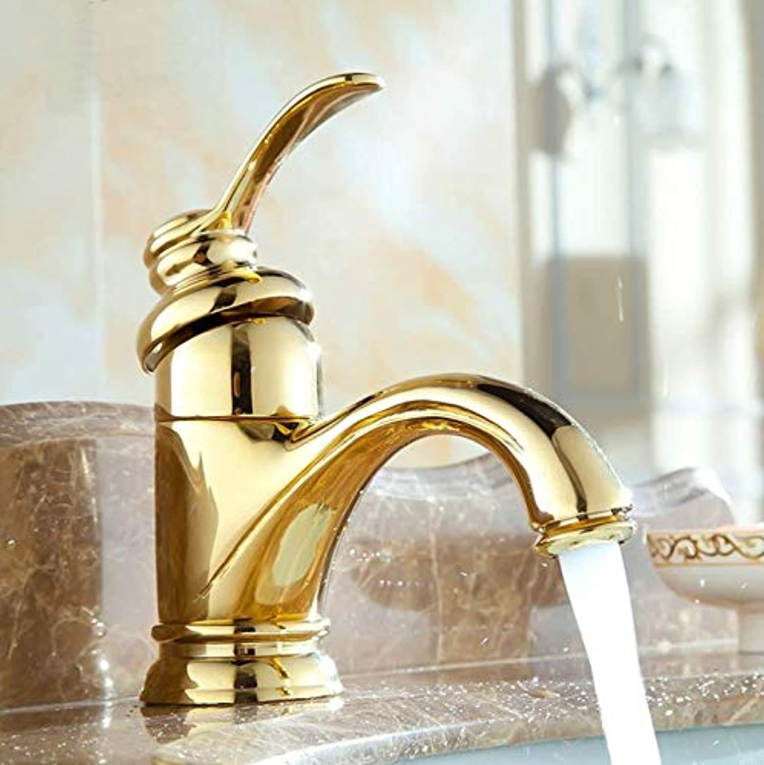 Decorry Antique Brass Faucet Bathroom Faucets Crane Wash Basin Mixer 9025A, B
