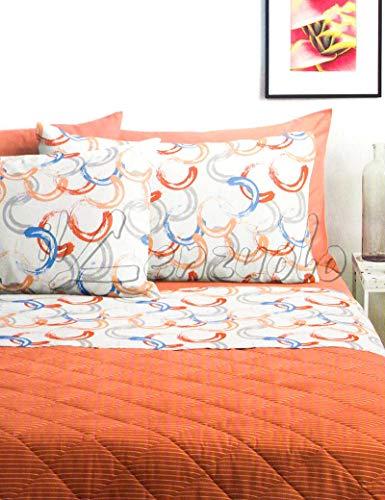 Lenzuola matrimoniali completo Bassetti Dream FEBE in cotone variante Arancio