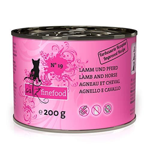 catz finefood N° 19 Lamm & Pferd Feinkost Katzenfutter nass, verfeinert mit Zucchini & Tomate, 6 x 200g Dosen