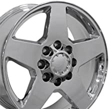 OE Wheels 20 Inch Fits Chevy Silverado 2500HD 3500HD GMC Sierra 2500HD 3500HD 8x180 Heavy Duty Silverado Style CV91B Chrome 20x8.5 Rim Hollander 5503