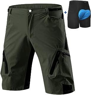 Cycorld Mountain-Bike-Shorts-Mens-MTB-Biking-Baggy-Padded-Cycling Shorts Removable Padding Liner