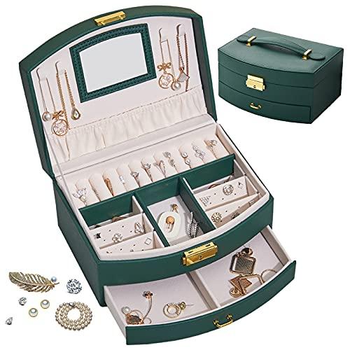 Caja de joyería Creativa de Doble Capa, Caja de Almacenamiento de joyería Tipo cajón, para Anillos, Pulseras, Pendientes, Collares, Idea de Regalo para Mujeres