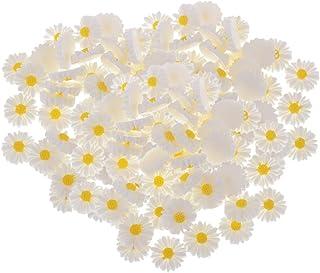 F Fityle 150x margarida flor resina cabochão enfeites de botão slime artesanato DIY