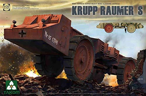 TAKOM 2053–Modellino di German Super Heavy Cleaning Vehicle Krupp raumer S