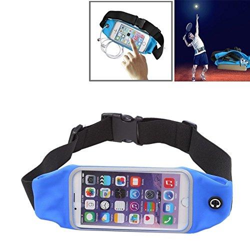 MarloncJg waterdichte beschermhoes voor sporttas, met uitsparing voor hoofdtelefoon voor iPhone 6 Plus en 6S Plus, Donkerblauw