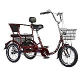 Kleines Cruise Bike für Erwachsene mit Dreirad, Pedalfahrrad mit Fitness- / Rehabilitationstraining, Outdoor-Sport für ältere Menschen mit Einkaufskorb, Fahrräder für Männer und Frauen