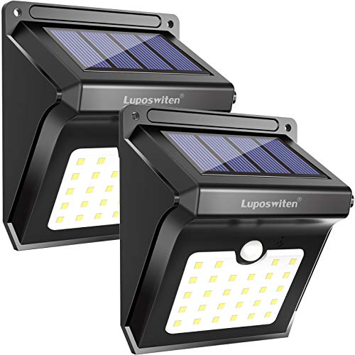 Solar Lights Outdoor 28 LEDs Motion Sensor Wireless Waterproof Security Light (2pcs)