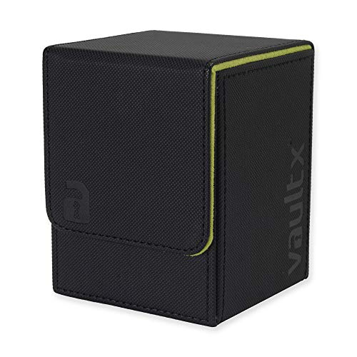 Vault X Premium eXo-Tec Deck Box - Large Size for 100+ Sleeved Cards - PVC Free Card Holder for TCG (Black)
