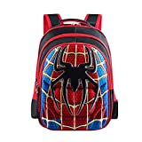 School Backpack Kids Spider Man Schoolbag Student Bookbag with 3D Anime Super Hero Design