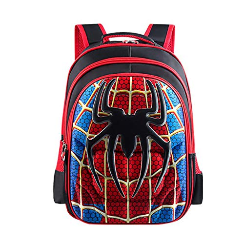 Longda School Backpack Kids Schoolbag Student Bookbag with 4D Anime Super Hero Design