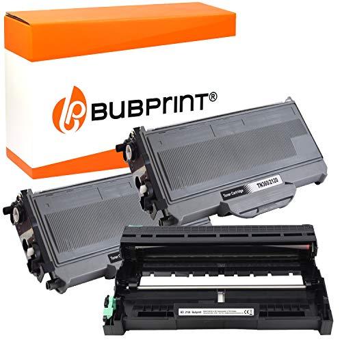 Bubprint 2 Toner und Trommel kompatibel für Brother TN-2120 DR-2100 für DCP-7030 DCP-7040 DCP-7045N HL-2140 HL-2150N HL-2170 HL-2170W MFC-7320 MFC-7440N MFC-7840W