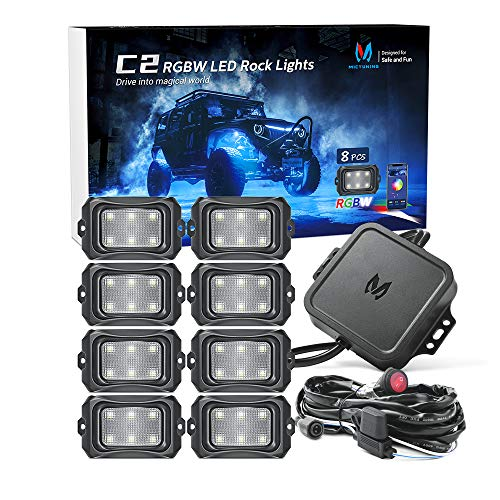 MICTUNING C2 Curved RGBW LED Rock Lights - 8...