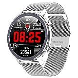 jpantech Smartwatch Orologio Fitness Uomo Donna Impermeabile IP68 Smart Watch Cardiofrequenzimetro da Polso Contapassi Smartband Activity Tracker Bambini Cronometro per Android iOS(Argento)