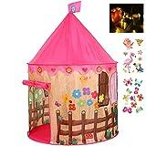 Georgie Porgy Kinder Faltbares Spielhaus Portable Zelt Schloss Indoor Outdoor Spielzeug Garten Rosa...