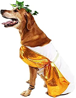 Roman Toga Dog Costume Cute Halloween Dog Costume Fashion Cosplay Dress for Puppy Small Medium Large Dogs Special Events Funny Photo Props Accessories