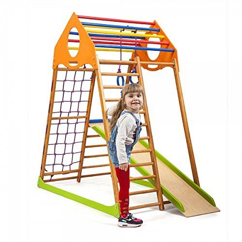Kinder Aktivitätsspielzeug Kletterturm mit Rutsche ˝Kindwood˝ Spielcenter Spielplatz