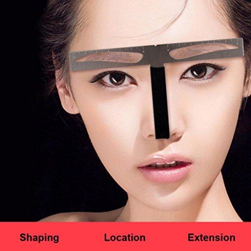 Eyebrow Caliper,Tattoo Eyebrow Ruler T-shaped Positioning Permanent Makeup Symmetrical tool Grooming Stencil Shaper Balance Ruler (B)