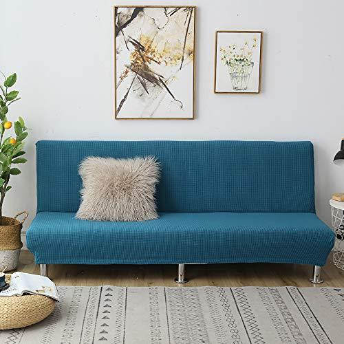 C/N Funda de sofá Cama Clic clac Plegable elástico Fundas de sofá sin Brazos Funda de sofá elástica sin Brazos Funda Clic clac 2 Plaza Verde Oscuro
