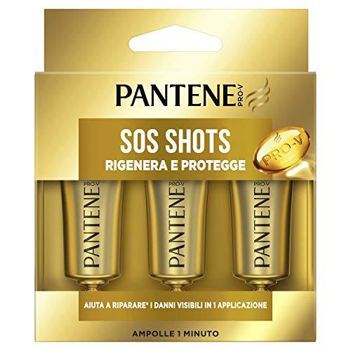 Pantene Pro-V Sos Shots Rigenera e Protegge, Trattamento Intensivo, per Capelli Danneggiati, 45 ml