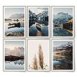 BLCKART Infinity Dreamy Mountains Bilder Set Stilvolle