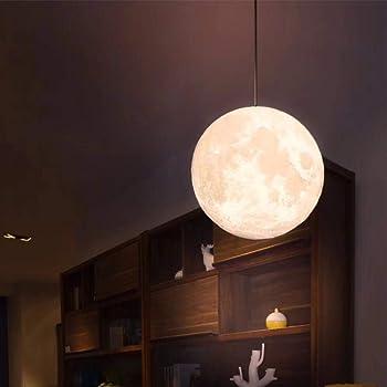 Leerain Hangend 3d Mondlampe 16 Farbe Mond Nachtlicht Leuchter Mondlichter Led Mond Tischlampe Haus Dekoration Kinder Liebhaber Geburtstag Party Weihnachten Geschenk 20cm Amazon De Kuche Haushalt