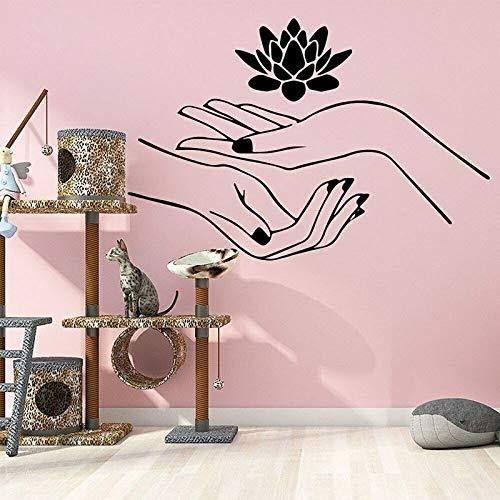 yaonuli Lotus muurstickers, spa, schoonheid, manicure, massage kamer decoratie, vinyl stickers