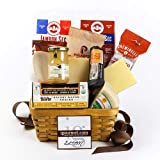 Connoisseur's Gourmet Meat & Cheese Gift Basket