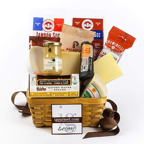 Connoisseur's Meat and Cheese Gift Basket (4.05 pound)