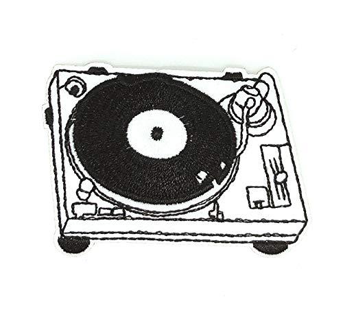 Gemelolandia | Parche Bordado Termoadhesivo Mesa de Mezclas DJ 7x5cm | Muy Adherentes | Patch Stickers Para Decorar Tu Ropa | Fáciles de Poner