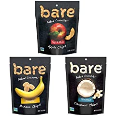 Simple Ingredients. Baked, never fried. Gluten free, dairy free, no added oil, good source of dietary fiber, Non GMO, no added preservatives BARE VALUES. We may have outgrown the days of selling at farmers market stands, but the bare team is still ro...