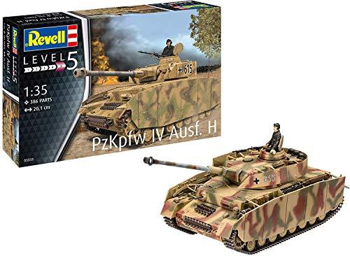 Revell RV03333 3333 Panzer IV AUSF. H originalgetreuer Modellbausatz für Experten, unlackiert
