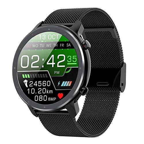 myWay Smartwatch,Fitness Watch Uhr Voller Touch Screen Fitness Uhr IP68 Wasserdicht Fitness Tracker Sportuhr mit Schrittzähler Pulsuhren Stoppuhr für Damen Herren Smart Watch für iOS Android Hand