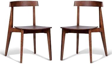 Set of 2 - Masa Ito Oriental Dining Chair - Walnut Timber Seat