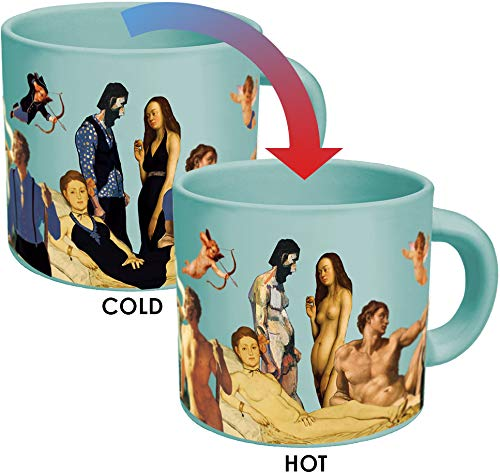 Great Nudes Heat Changing Coffee Mug - Add Hot Liquid and Watch the Figures Change From Prudes to...