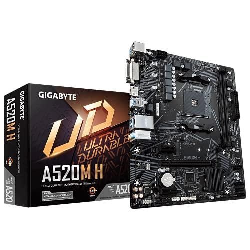 Placa Mae Gigabyte A520M H AM4 DDR4 M-ATX
