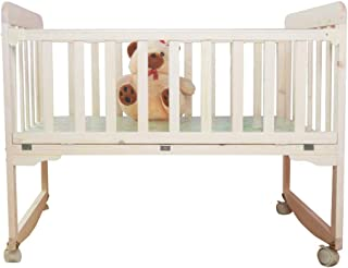 Wooden Baby Cot Bed Toddler Bed Crib  Solid Wood Multi-function Baby Bed Cradle Bed Newborn Unpainted Children s Bed  Color Natural  Size 75cm