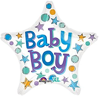 Anagram Baby Boy Star 46cm Foil Balloon