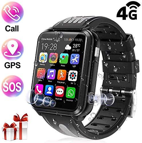ZLI Smartwatch Kinder, GPS Tracker Unterstützt 4G (SIM-frei) Wasserdicht mit 2 Kamera, Videoanruf, Schulmodus, Voice Chat, Remote-Fotografie, GEO-Zaun für Jungen Mädchen, 32G,Schwarz
