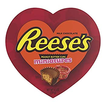 Reese s Milk Chocolate and Peanut Butter Miniatures Valentine s Heart Box 6.5 Oz.