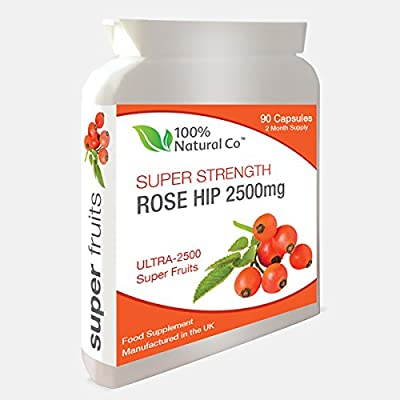 Super Strength Rosehip Capsules - 100% Natural Co - High Strength Rosacanina - Arthritis and Joint Pain Relief