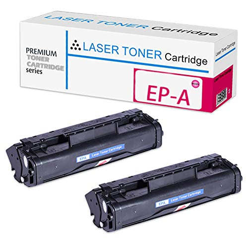KSBIAO EP-A-kompatibler Tonerkartuschenersatz, passend für Canon FAX-460 465 660 1100 2060 L4000 L6000 Laserdrucker, hohe Produktion (1Schwarz, 2Schwarz, 4Schwarz, 4er-Pack)-2-Set