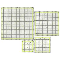 両手アングルシステム、4ピースの布キルティング定規、カッティングルーラーとしてのファブリックカッティングルーラー、