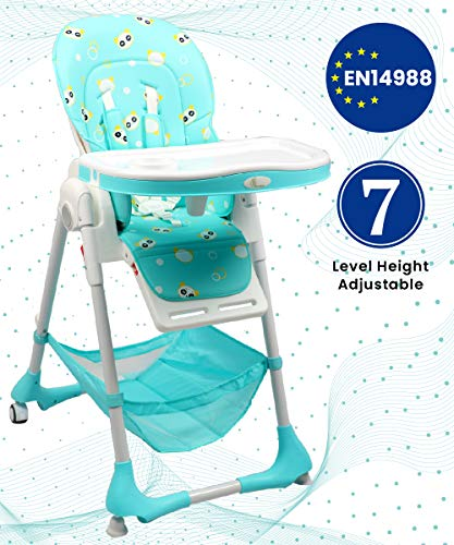 R for Rabbit Marshmallow Baby High Chair- The Smart High Chair for Baby/Kids(Green)