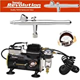 IWATA REVOLUTION BR AIRBRUSHING SYSTEM WITH SMART JET AIR COMPRESSOR by Master Airbrush