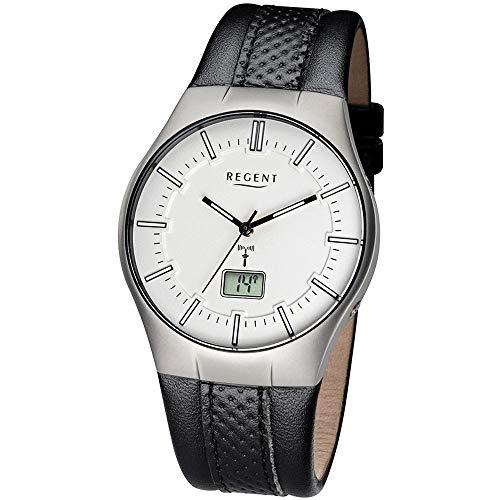 Regent Herren-Armbanduhr Analog, digital One Size, silberfarben, schwarz
