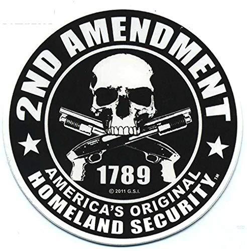 Fashion Car Sticker 2. Änderung Amerikas Original Homeland Security Zubehör Sonnenschutz Aufkleber, 11 cm * 11 cm