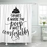 Babydo Shower Curtain El Marrón Es Donde Cacas Más Cómodamente Divertido Y Dulce Refrán Entre Comillas Poliéster con 12 Ganchos Cortina De Ducha Hoteles Interior Estándar Moderno 183X183