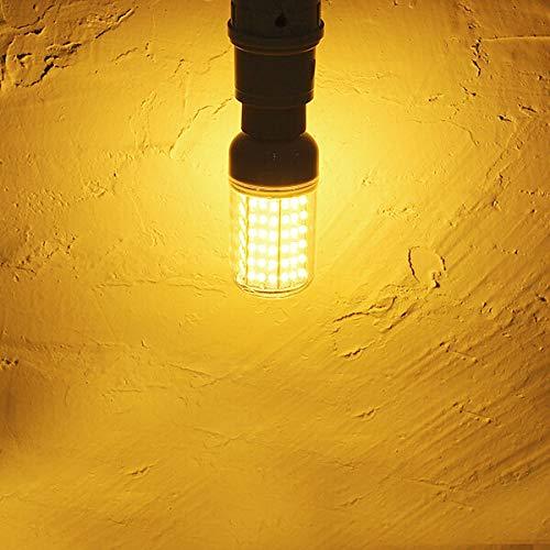 DGDH Bulbos de maíz LED, E27 126 2835 15W Whtie Whtie/LED Blanca Luz de maíz 220V Bombilla de iluminación Duradera (Color : Warm White)